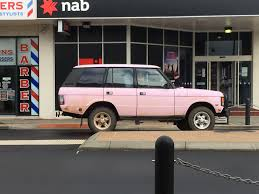 land rover pink pink classic range rover
