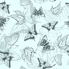 seamless vector butterfly pattern for easy seamless pattern