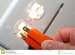 standard 110 volt power outlet stock image image 3968581