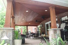 Patio Roofs Designs Roof Built Existing Patio Rustic Patio Cleveland By