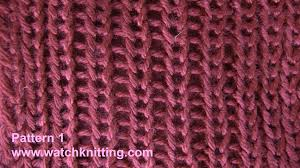 knitting stitches rib stitch tutorial free knitting patterns