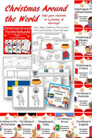 Country Flags Of The World Christmas Around The World Bundle Maps Flags Information Cards
