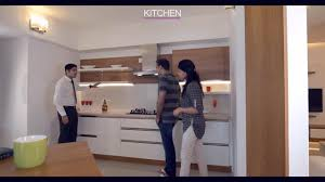 Interiors Of Kitchen Apartment Interiors Of Film Director Anwar Rasheed Youtube