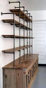 pipe wood shelves and bookshelves plumbing reclaimed bookshelf