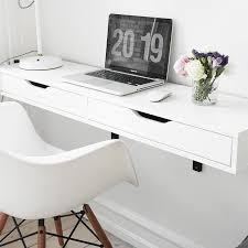 Small White Desk Ikea Best Wall Mounted Desks Tables 2016 Annual Guide Wall Mounted