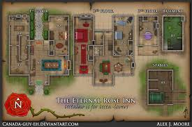 dungeon floor plans the eternal rose inn map by canada guy eh on deviantart