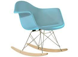 Teal Rocking Chair Eames Rar Rocking Chair Fiberglass Platinum Replica