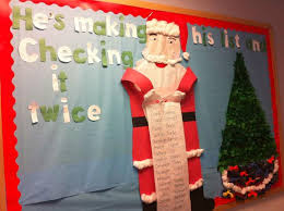 he s his list santa classroom bulletin board idea