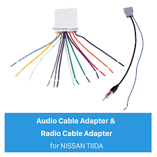 wiring harness audio cable adapter and radio cable adapter for