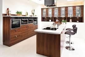 modern kitchen decoration using modern walnut wood kitchen