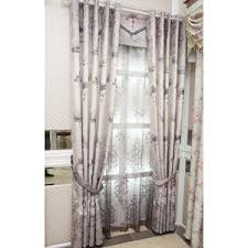 Valance And Drapes Cream Damask Embroidery Luxury Chenille Extra Wide Valance Curtains