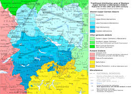 Map Of Germany And Switzerland by Alemannic German Wikipedia