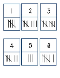here are two sets of tally mark dominoes one set is for numbers 1