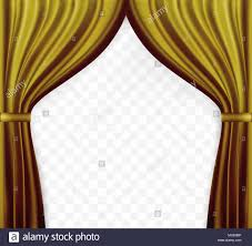 Gold Color Curtains Naturalistic Image Of Curtain Open Curtains Gold Color On Stock