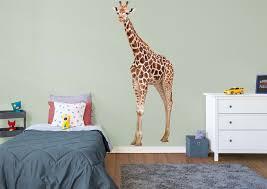 giraffe wall decal shop fathead for general animal graphics decor