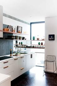 9 small kitchen design ideas small kitchen open shelves parquetry floors r d11