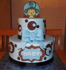 baby shower 10 inch 6 inch buttercream cake monkey boy baby