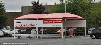 tesco to open the uk u0027s first drive thru store daily mail online
