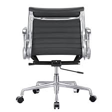 Computer Game Chair Aluminum Management Chair Ribbed Back Home And Office Furniture