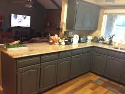dark brown kitchen cabinets with gray walls monsterlune