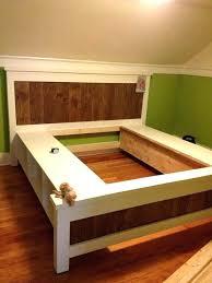 King Platform Bed Frame With Headboard Cal King Platform Bed Brokenshaker