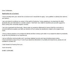 lecturer cover letter example u2013 cover letters and cv examples