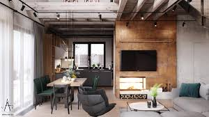 warm industrial style house with layout