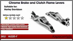 chrome brake and clutch flame hand grips levers youtube