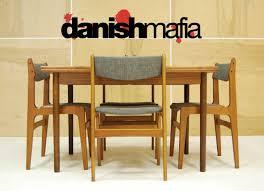 danish modern dining room chairs mid century danish modern teak dining complete set table 6 chairs