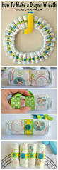 halloween diaper cake how to make a diaper wreath for a baby shower crafty concoctions