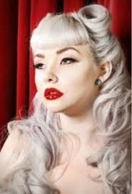 blue victory rolls hell yes hair and make up pinterest