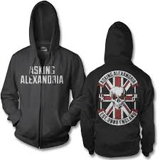 official asking alexandria rebel zip up hoodie asking alexandria