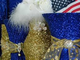gold and royal blue decorations baby shower bridal shower