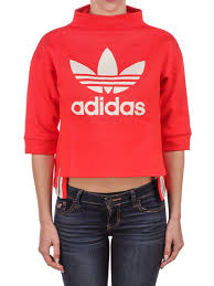 fashion adidas cropped cotton sweatshirt cheap sweatshirts women