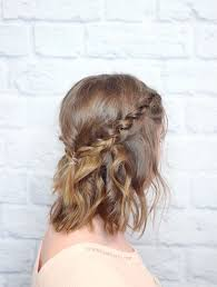 plaited hairstyles for short hair ponytail styles short hair hairstyle ideas in 2018