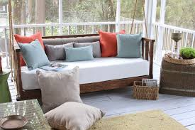 porch daybed swing cushions and pillows traditional porch