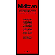 Midtown Manhattan Map Midtown New York City Theatre Shopping Guide U2013 Red Maps