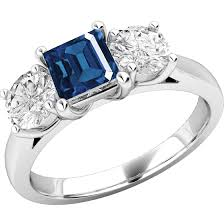 all sapphire rings images Sapphire and diamond ring for women in 18ct white gold with a png