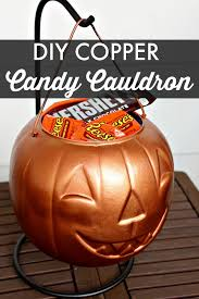 I Love Halloween - diy halloween copper candy cauldron southern state of mind