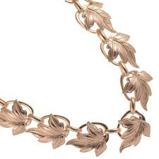 rose gold leaf bracelet images Sterling silver jewellery york statement costume jewellery at rue jpg