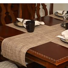 Coffee Table Runners Table Runner Brown And Tan Wipe Clean Table Runner At