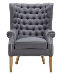 Wing Chair Abe Grey Linen Wing Chair Tov A2040 U2013 Mcm Classics