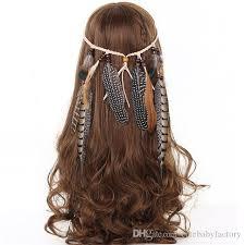 boho hair accessories feather headband women 2017 festival feather headband hippie