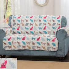 felix quilted cat print patterned furniture protectors