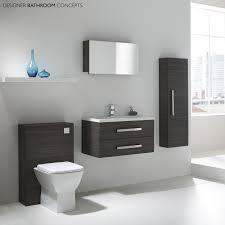 Aquatrend White Designer Modular Bathroom Furniture Collection - Designer bathroom cabinets