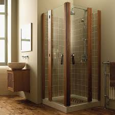 Corner Shower Units For Small Bathrooms Corner Shower Units Fiberglass Frameless Frosted Glass Home