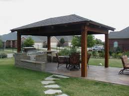 outdoor kitchen pavilion wood plans part step by pictures on