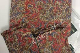 ralph lauren full queen paisley duvet cover set red gold blue
