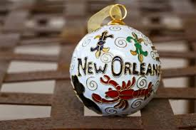 new orleans themed cloisonne ornament