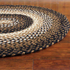 Black And White Braided Rug 8 U0027 X 10 U0027 Size Area Rugs Ebay